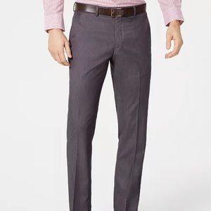 Perry Ellis Portfolio Slim-Fit Stretch Gray Pants